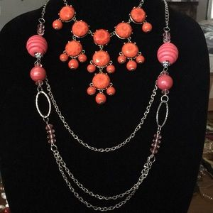 Jewelry - Pretty orange/coral necklaces